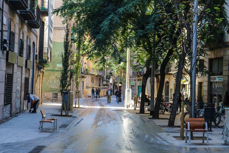 De oude stad van Barcelona royalty-vrije stock afbeelding