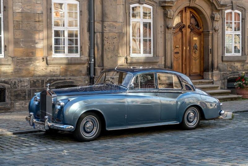De oude stad van Bayreuth - Rolls Royce royalty-vrije stock afbeelding