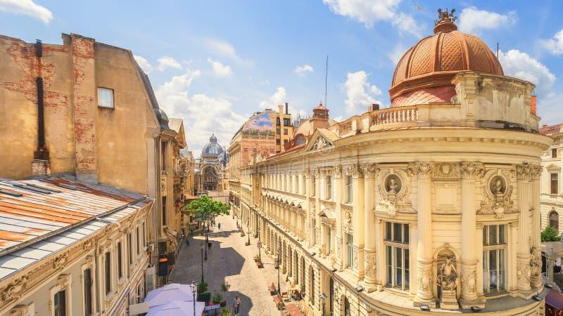 De Oude Stad van Boekarest - Roemenië stock foto