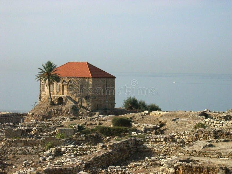 De oude stad van Byblos, Libanon royalty-vrije stock fotografie