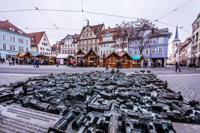 De oude Stad van Erfurt royalty-vrije stock afbeelding