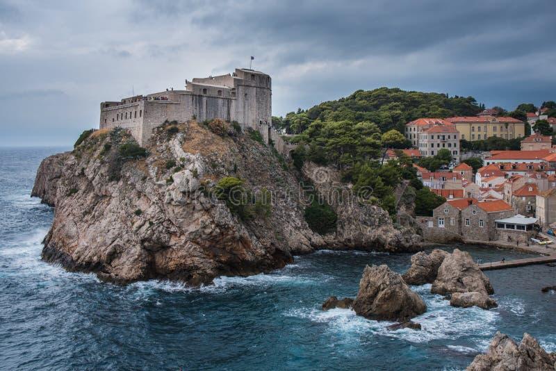 De oude stad van Europa Kroatië Dubrovnick stock foto