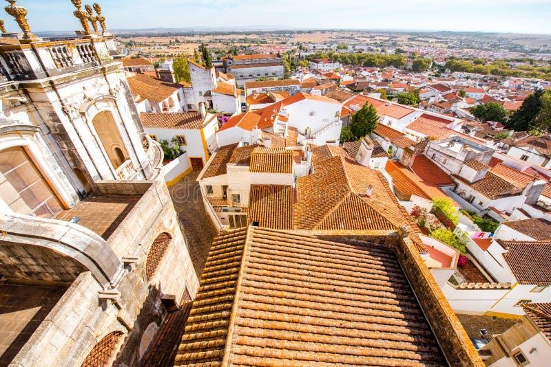 De oude stad van Evora in Portugal stock afbeeldingen