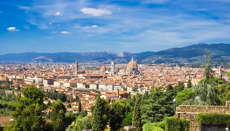De oude stad van Florence stock afbeelding