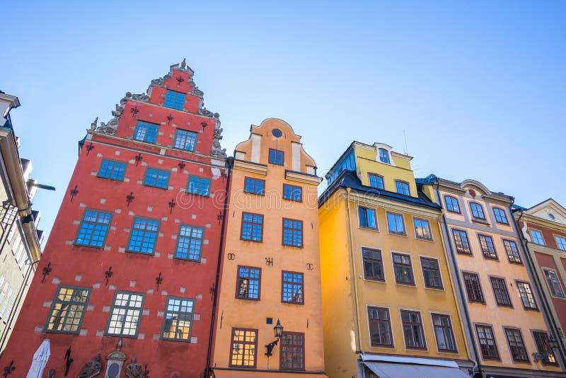 De oude stad van Gamlastan in de stad van Stockholm, Zweden royalty-vrije stock fotografie
