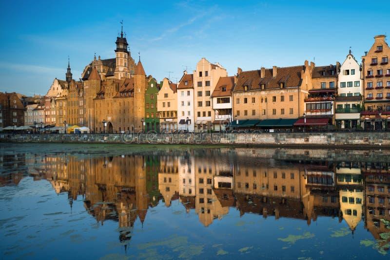De Oude stad van Gdansk stock afbeelding