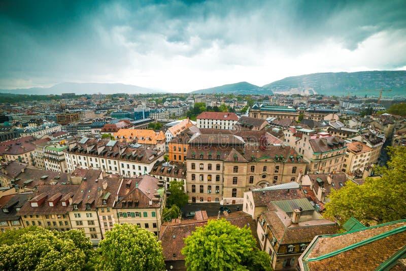 De Oude Stad van Genève royalty-vrije stock afbeelding