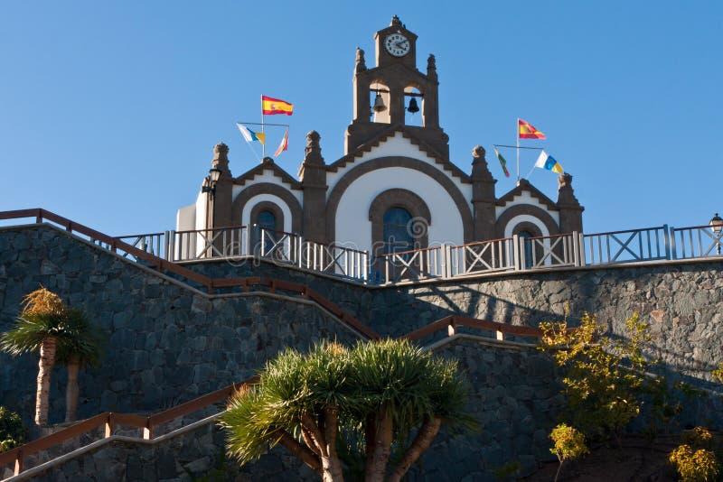 De oude stad van Gran Canaria stock afbeeldingen