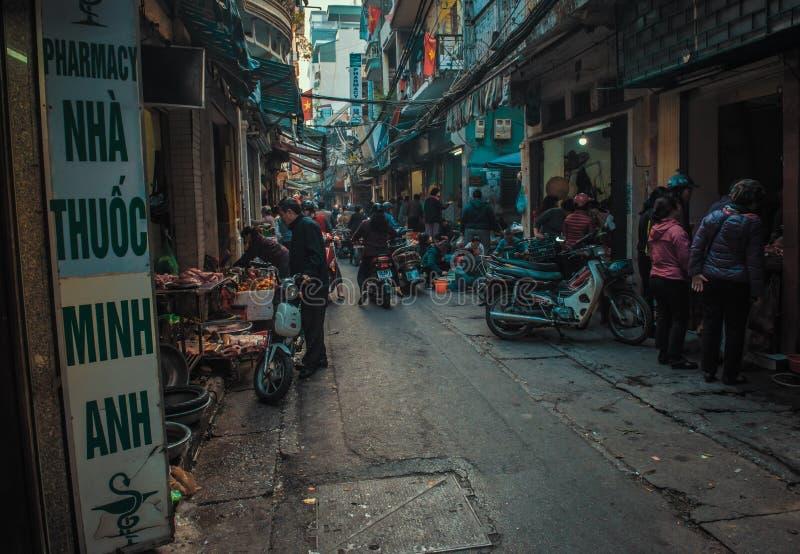 De oude stad van Hanoi ` s stock afbeeldingen