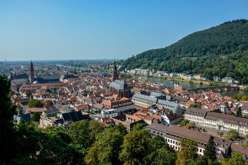 De oude stad van Heidelberg van het kasteel royalty-vrije stock foto