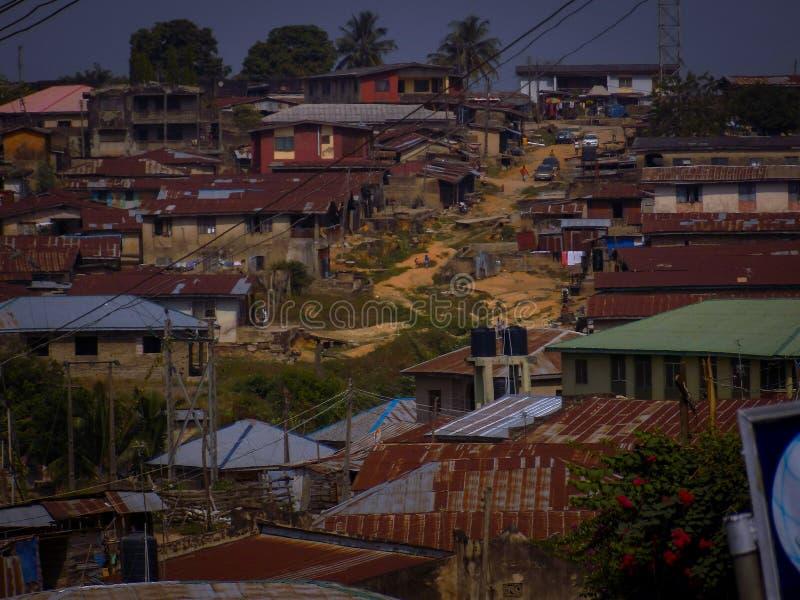 De Oude stad van Ibadan royalty-vrije stock afbeelding