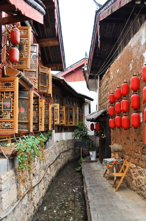 De oude Stad van Lijiang, Yunnan provincie, China royalty-vrije stock afbeeldingen