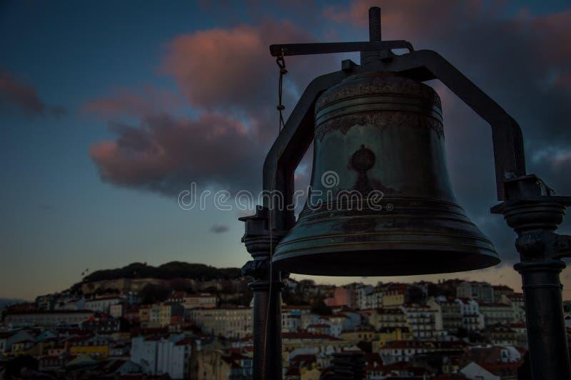 De oude stad van Lissabon stock foto