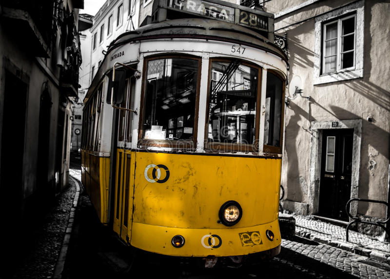 De oude stad van Lissabon stock fotografie