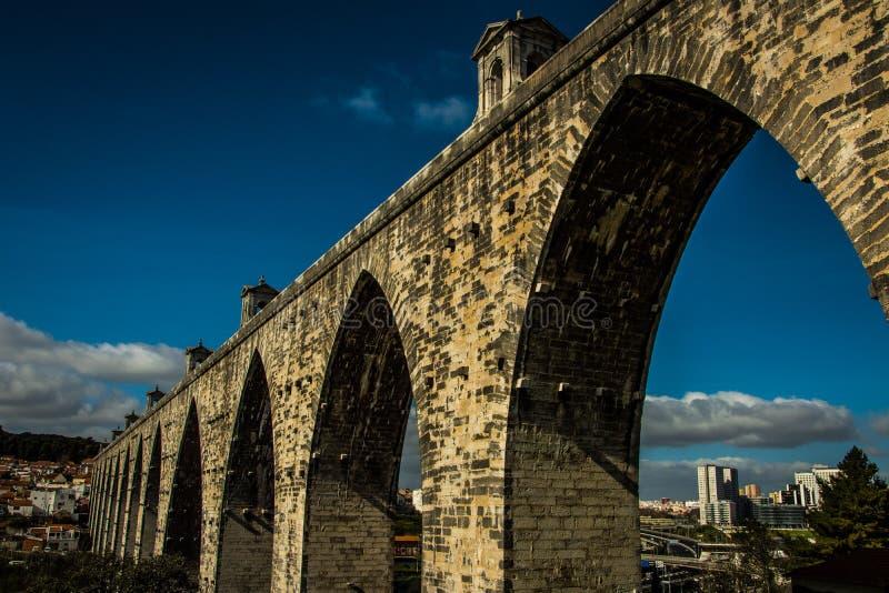 De oude stad van Lissabon royalty-vrije stock foto