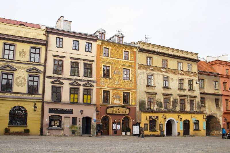 De oude stad van Lublin, Polen stock foto