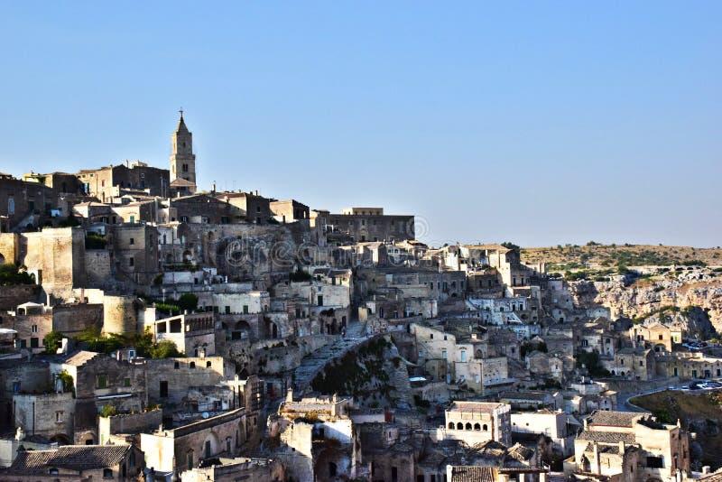 De oude stad van Matera stock foto's