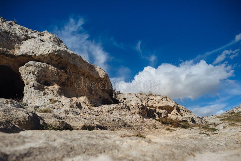 De oude stad van Matera in de plaats van Unesco van Italië royalty-vrije stock foto's