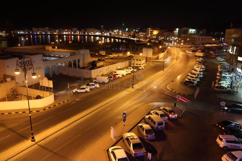 De oude stad van Muscateldruif, Oman stock afbeelding