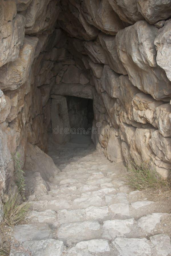 De oude stad van Mycenae royalty-vrije stock foto