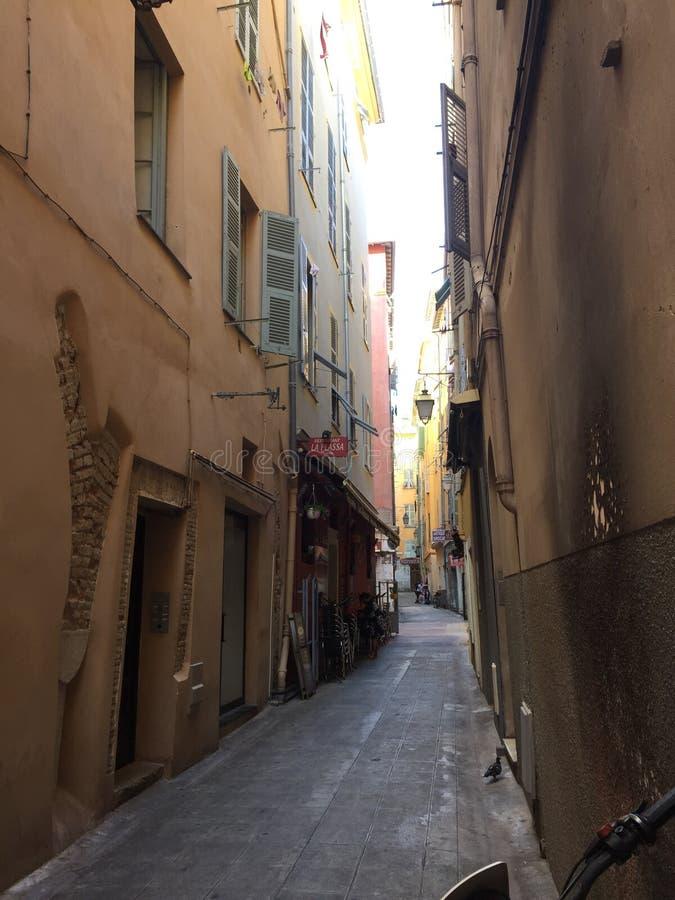 De oude stad van Nice stock foto's