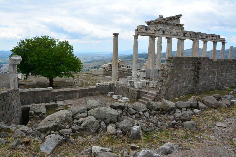 De Oude Stad van Pergamon in Izmir Turkije royalty-vrije stock foto's