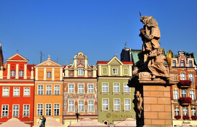 De oude stad van Poznan, Polen stock afbeelding