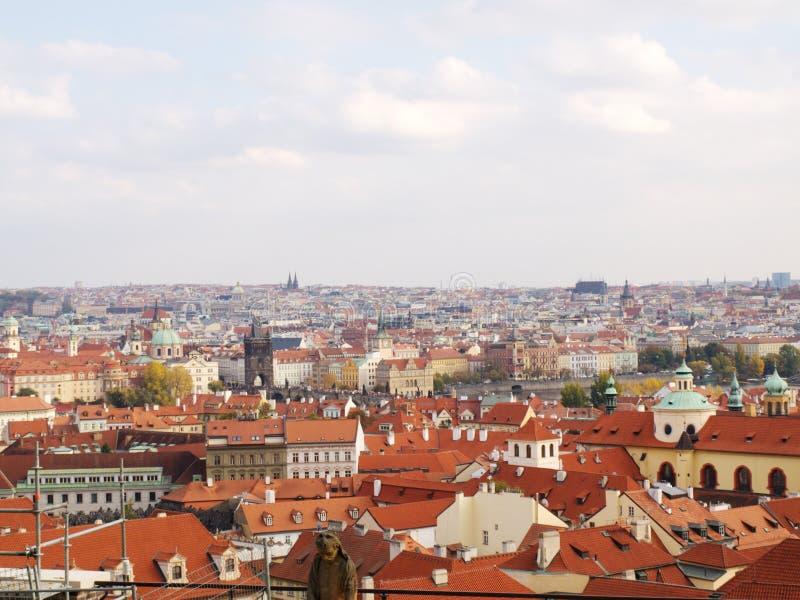 De oude stad van Praag, een prachtige mening van de oude toren royalty-vrije stock foto's