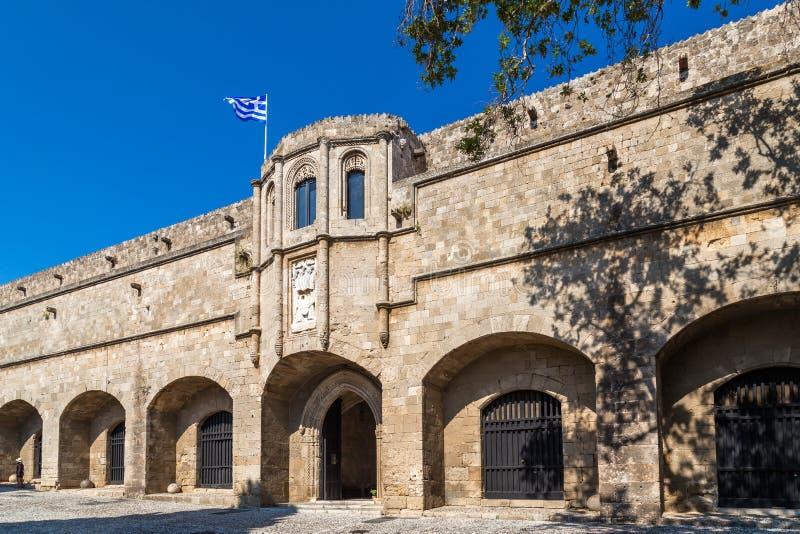 De oude stad van Rhodos stock afbeeldingen