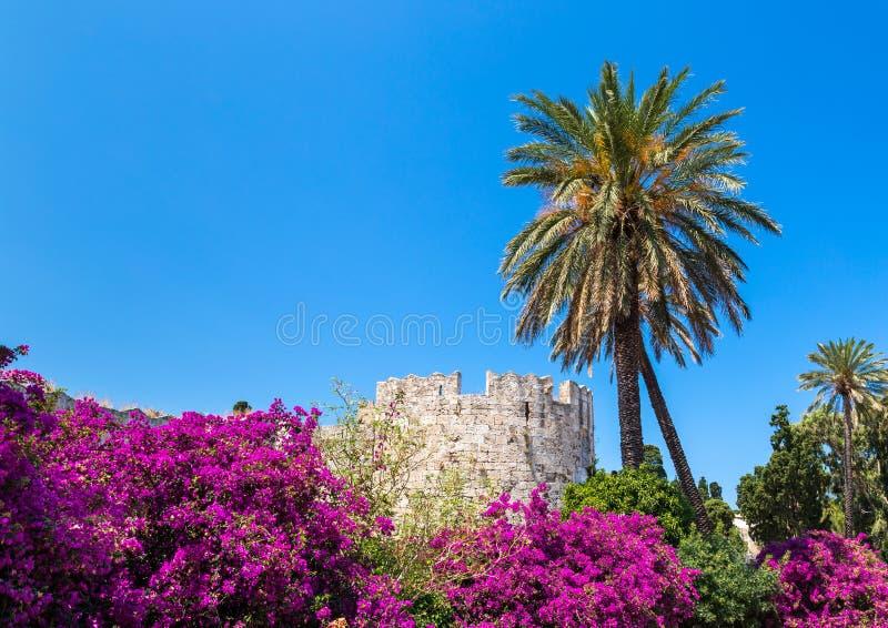 De oude stad van Rhodos royalty-vrije stock afbeeldingen