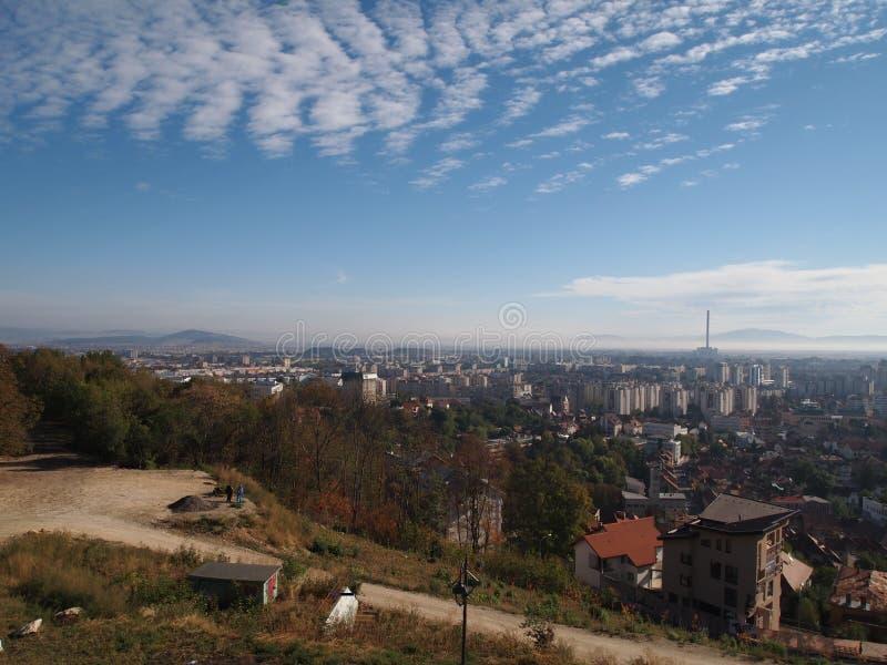 De oude stad van Roemeense stad brasov royalty-vrije stock foto's