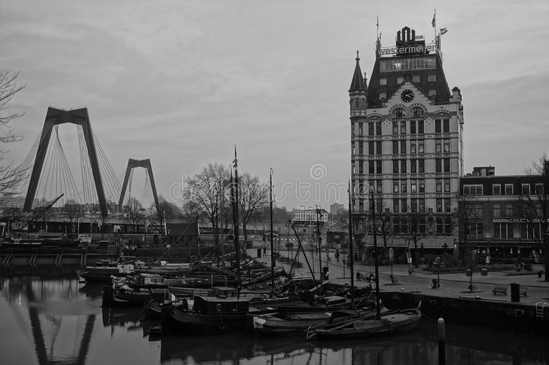 De oude stad van Rotterdam stock foto