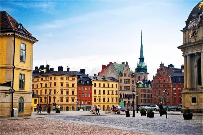 De Oude Stad van Stockholm royalty-vrije stock afbeelding