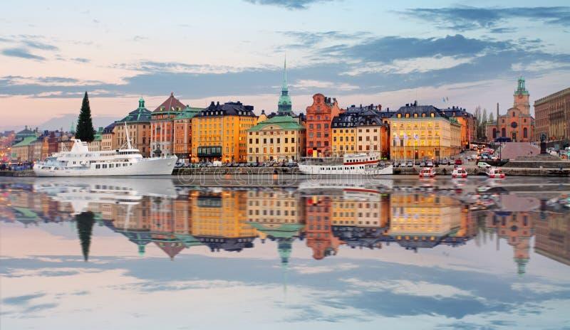 De Oude Stad van Stockholm, Sweiden royalty-vrije stock foto's