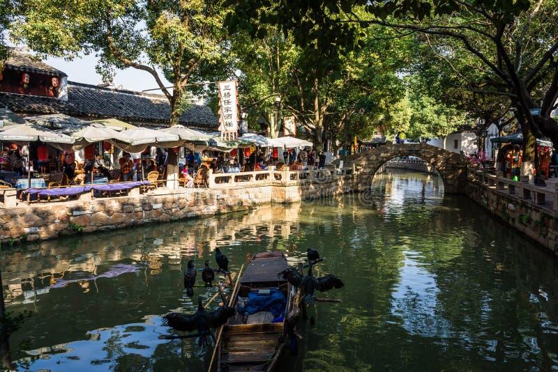 De oude stad van Suzhoutongli stock foto's