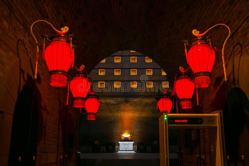 De oude stadsmuur in Xi `, China stock fotografie