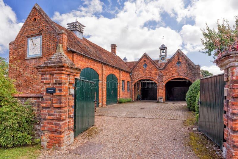 De Oude Stallen, Packwood-Huis, Warwickshire royalty-vrije stock afbeelding