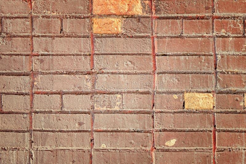 De oude Stedelijke Rode Achtergrond van Grunge van de Bakstenen muurtextuur stock afbeelding