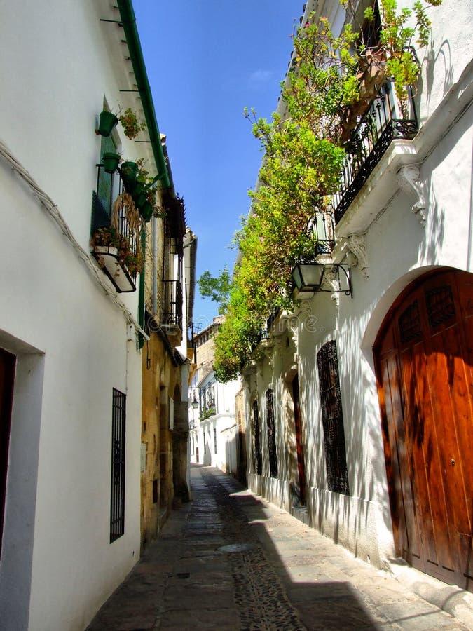De oude straat van Cordoba stock afbeelding