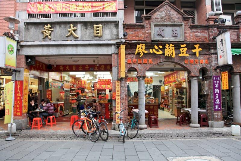 De oude straat van Daxi. Taiwan stock foto's