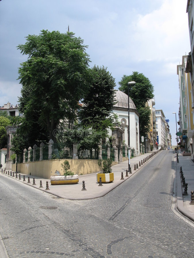De oude straat van Istanboel stock foto