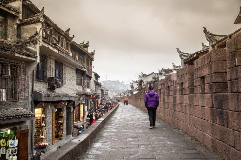 De oude straten van China royalty-vrije stock fotografie