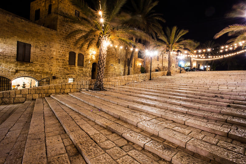 De oude straten van Jaffa, Tel Aviv, Israël royalty-vrije stock foto's