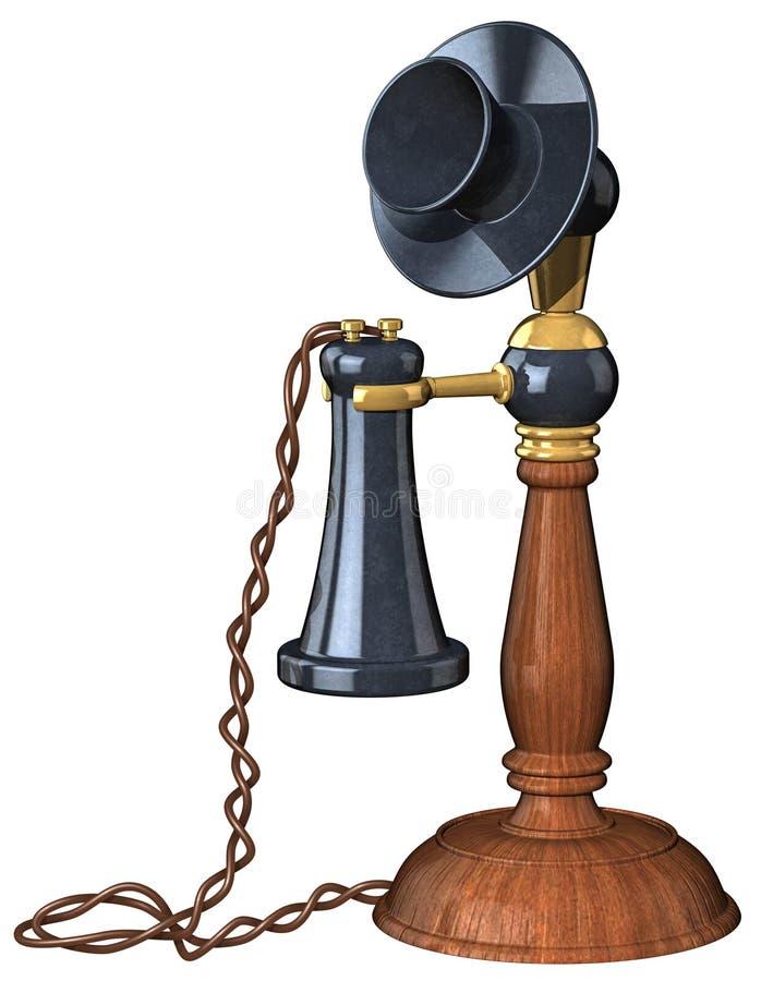 De oude Telefoon van de Stijl royalty-vrije illustratie