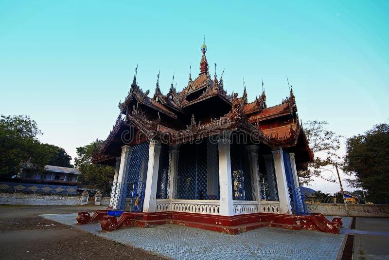 De oude tempel in Myanmar bouwde oud stock foto's