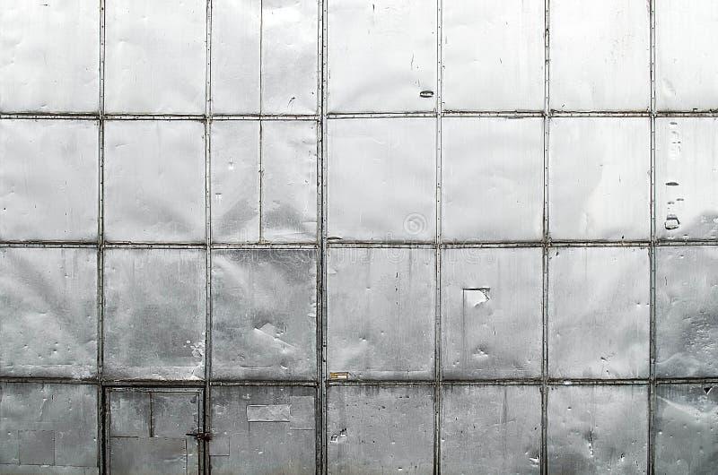 De oude textuur van de het bladmuur van het krasmetaal stock foto's