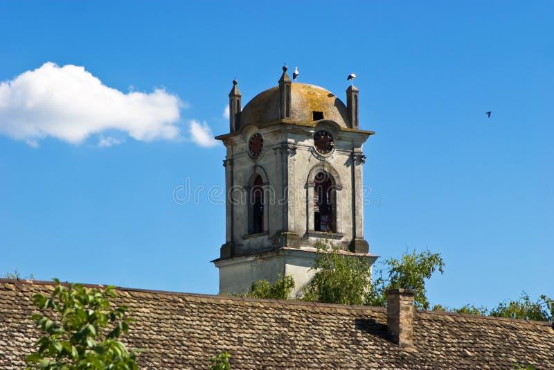 De oude Toren van de Kerk stock afbeelding