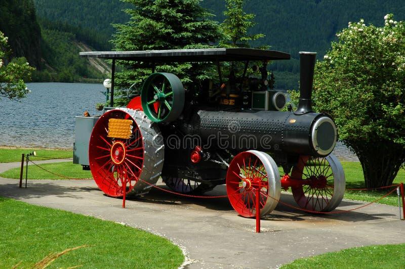 De oude Tractor van de Stoom stock foto