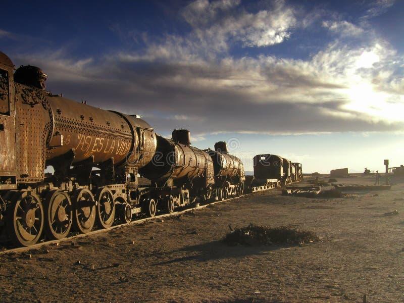 De oude trein royalty-vrije stock fotografie