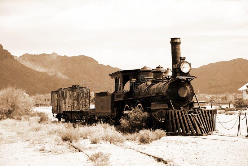 De oude trein van de V.S. stock afbeeldingen